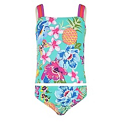 Monsoon - Girls' green Paradiso tankini