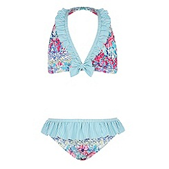 Monsoon - Girls' multicoloured  Georgia ditsy triangle bikini