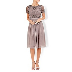 Monsoon - Grey Tulip embellished dress