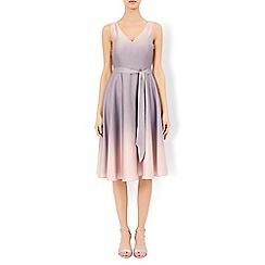 Monsoon - Grey Peony ombre dress