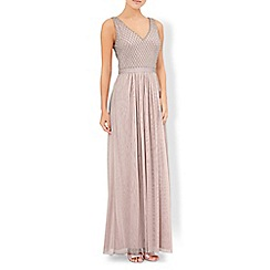 Monsoon - Pink Jacinta embellished maxi dress