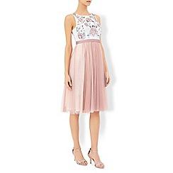 Monsoon - Pink Lotus embroirdered dress