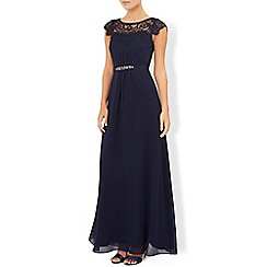 Monsoon - Blue briar-rose maxi dress