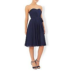 Monsoon - Blue Rowan pleated dress