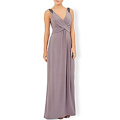 Monsoon - Grey rose embellished maxi dress