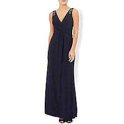 Monsoon - Blue rose embellished maxi dress