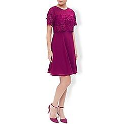 Monsoon - Pink sylvia lace panel dress