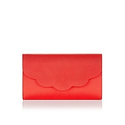 Monsoon - Red geri scallop clutch