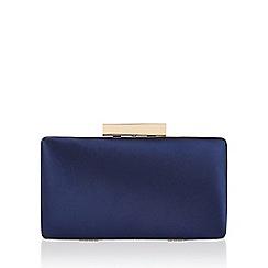 Monsoon - Blue Layton small satin clutch bag