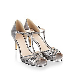 Monsoon - Metallic 'Nova' diamante sparkle sandals