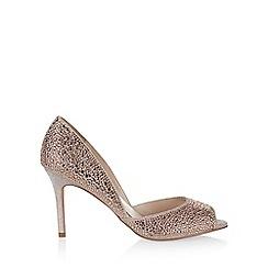 Monsoon - Pink Jove diamante sparkle peep toe