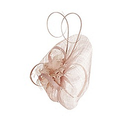 Monsoon - Pink 'Margaret' feather flower fascinator