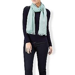 Monsoon - Green Sakura sparkle trim scarf
