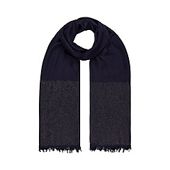 Monsoon - Blue Sakura sparkle trim scarf