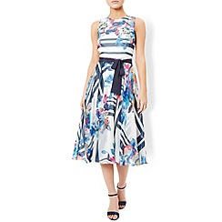 Monsoon - Ivory Hallie soft belted dress