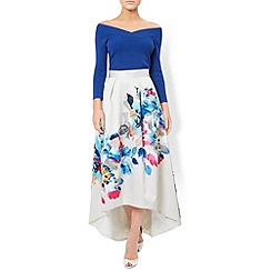 Monsoon - Ivory Hallie floral high low maxi skirt