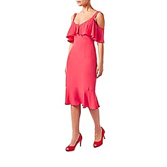 Monsoon - Pink Antonella ruffle dress