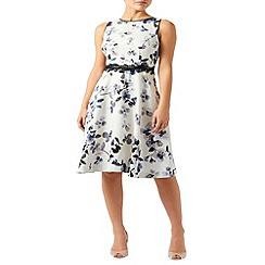 Monsoon - Ivory Heather print dress