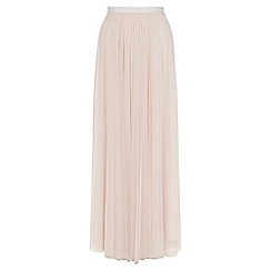 Monsoon - Pink Flora tulle maxi skirt