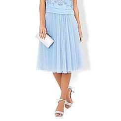 Monsoon - Blue Flora tulle skirt