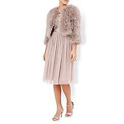Monsoon - Pink Nicolette feather jacket