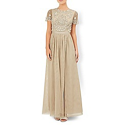 Monsoon - Gold Topazalite maxi dress