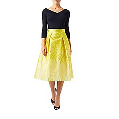 Monsoon - Yellow Botanica woven skirt