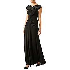 Monsoon - Black Carrie embellished bardot dress