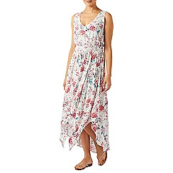 Monsoon - Ivory Kylie print fit & flare dress