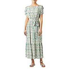 Monsoon - Green Fliss print dress