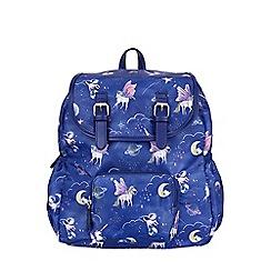 Monsoon - Girls' blue 'cosmic' pocket backpack