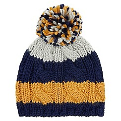 Monsoon - Boys' multicoloured 'Toby' cable stripe beanie
