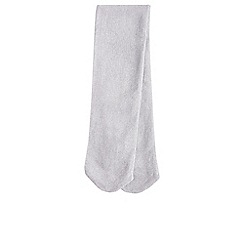 Monsoon - Baby girls' silver sparkly nylon tights