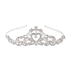 Monsoon - Girls' silver swirl pearl tiara
