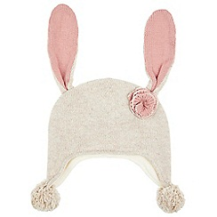 Monsoon - Baby girls' brown 'Buttercup' bunny Nepal hat
