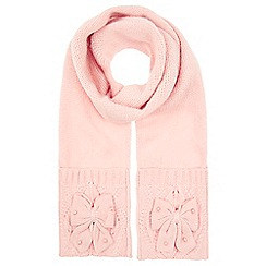 Monsoon - Girls' pink pearl bow scarf