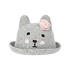 Monsoon - Girls' grey 'Beatrice' bunny bowler