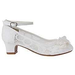 Monsoon - Girls' white delicate sequin flower lace cha cha cha