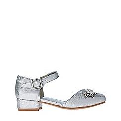 Monsoon - Girls' silver 2 Part Flower Brooch Jive Shoes