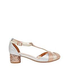 Monsoon - Girls' gold mixed metallic shimmer jazz shoes