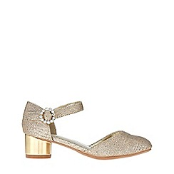 Monsoon - Girls' gold 2 Part Diamante Buckle Jazz Shoes