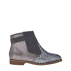 Monsoon - Girls' silver mixed metallic glitter boots