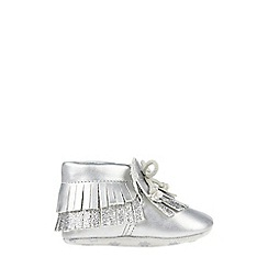 Monsoon - Baby girls' silver Metallic Tassel Bootie