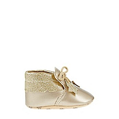 Monsoon - Baby girls' gold Metallic Star Bootie