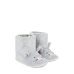 Monsoon - Baby girls' grey Belinda Bunny Slipper Boot