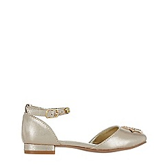 Monsoon - Girls' Gold 2 part embellished star flat