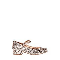 Monsoon - Gold mixed glitter jive shoe