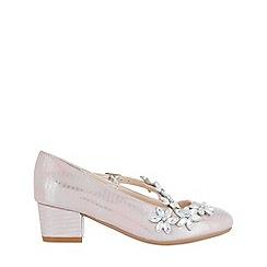 Monsoon - Girls' pink beautiful flower strap charleston shoes