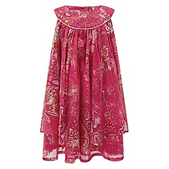 Monsoon - Baby girls' red hacienda dress