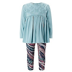 Monsoon - Baby girls' blue 'nina' top and leggings set